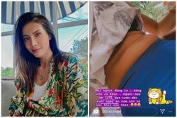 Minh Tú khoe vòng 2 ngấn mỡ - kết quả của chuỗi ngày mắc kẹt tại Bali