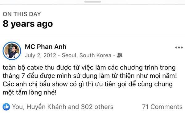 MC Phan Anh nói về ồn ào từ thiện 4 năm trước: Làm từ tâm, lấy tiền túi ủng hộ-2