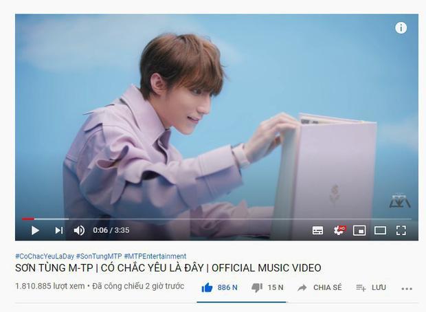 Thành tích MV mới của Sơn Tùng M-TP sau 3 giờ lên sóng: Phá kỷ lục công chiếu và lượt view nhưng hụt hơi chỉ số triệu like-7