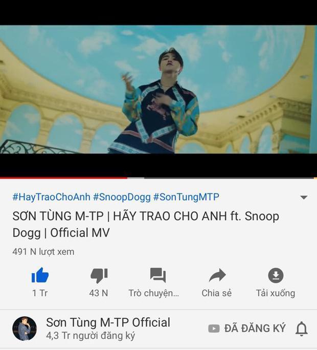 Thành tích MV mới của Sơn Tùng M-TP sau 3 giờ lên sóng: Phá kỷ lục công chiếu và lượt view nhưng hụt hơi chỉ số triệu like-6