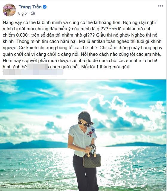 Trang Trần xóc xiểm antifan khi mua nhà nuôi chó