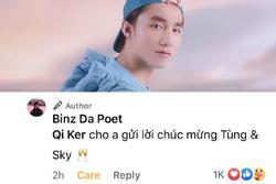 Fan bình luận chúc mừng Binz bằng ảnh Sơn Tùng M-TP và pha xử lý đi vào lòng người xứng đáng 'Bigcityboi'
