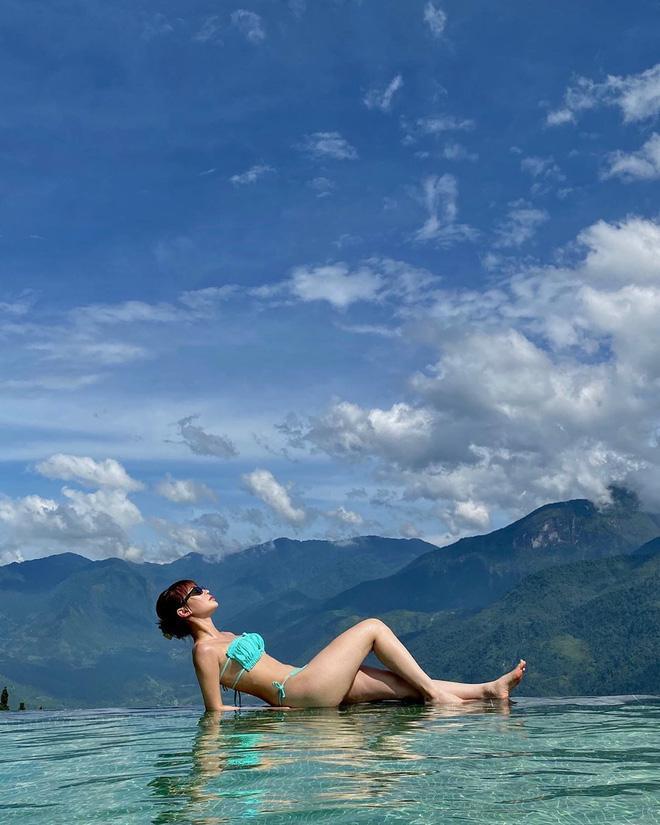 Sunht khoe vòng 1 sau nghi án độ loa: đụng hàng bikini với nữ hoàng nội y, hoa hậu, người mẫu mà không ngán-2