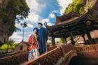 Ảnh cưới xuyên không của cô nàng Phú Quốc chủ động 'cầm cưa' crush bằng list nhạc thất tình