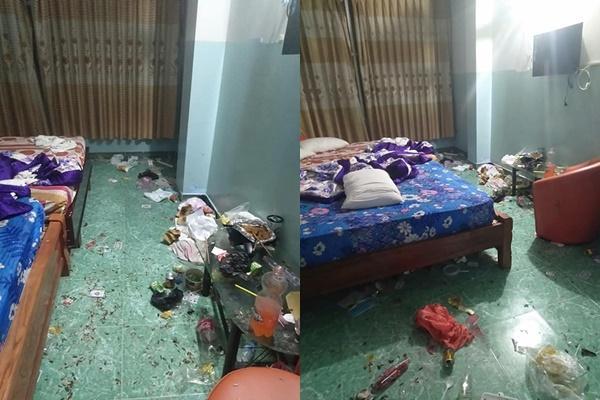 Chủ khách sạn hết hồn với căn phòng ngập rác, còn bị 2 gái đẹp bùng tiền-1