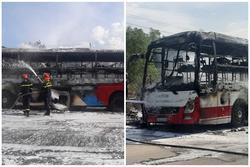Xe khách chở 16 người bốc cháy dữ dội khi đang lưu thông trên đường
