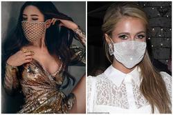 Paris Hilton bị ném đá vì đeo khẩu trang đính đá 'có như không'
