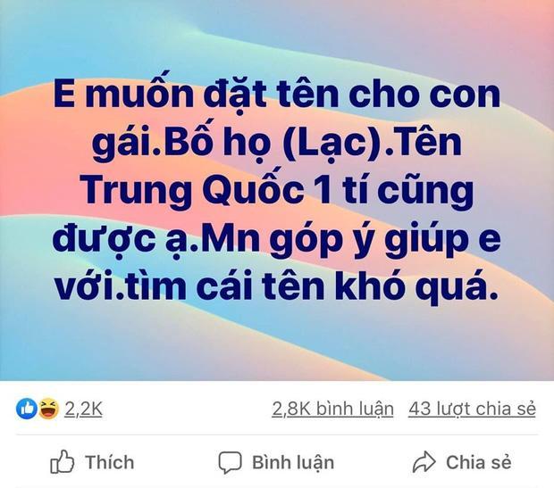Một post xin tư vấn đặt tên con gái họ Lạc, mẹ trẻ nhận 3k câu trả lời cười sái hàm-1