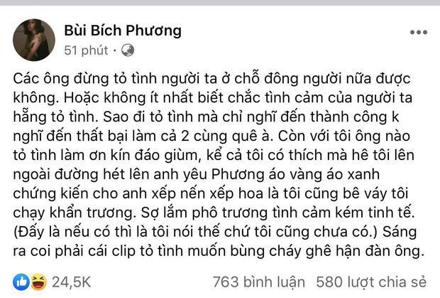 Bích Phương bày tỏ quan điểm về clip cầu hôn gây xôn xao