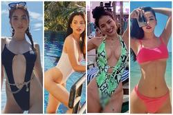 Tiểu Vy gia nhập hội mỹ nhân diện đồ bơi khoét hông hiểm hóc cùng Ngọc Trinh, Phương Trinh Jolie