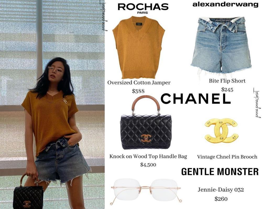 Công chúa YG như Jennie: Thảnh thơi đi chơi cũng diện nguyên cây hàng hiệu với giá trị khủng-5