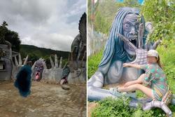 Dân mạng tranh cãi tạo hình ghê rợn tại khu du lịch mới ở Đà Lạt