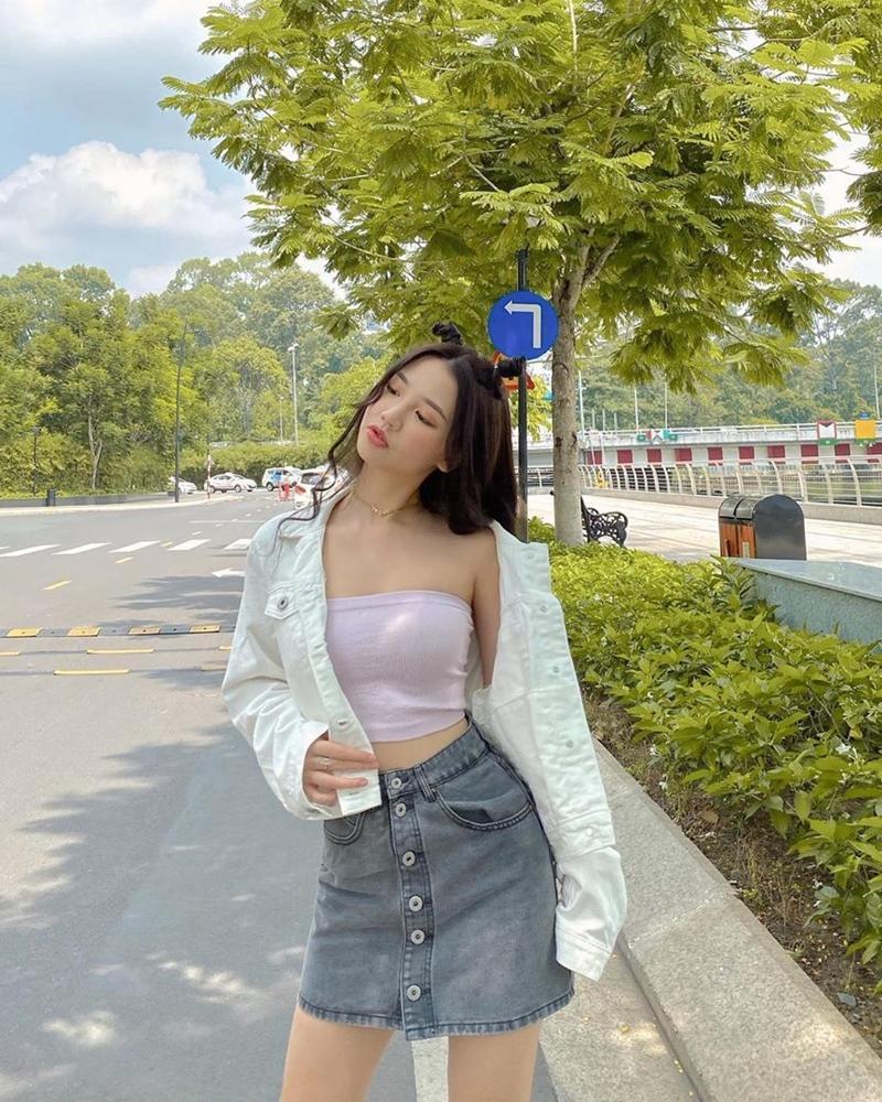 Chi Pu sexy - Phương Ly nữ tính bất ngờ khi cùng diện đầm tím-6