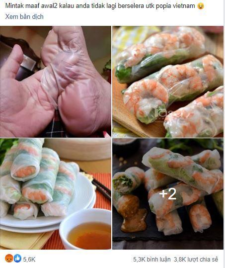 Món gỏi cuốn đặc sản Việt Nam bị một trang ẩm thực nước ngoài ví như da chân người ghê rợn-1