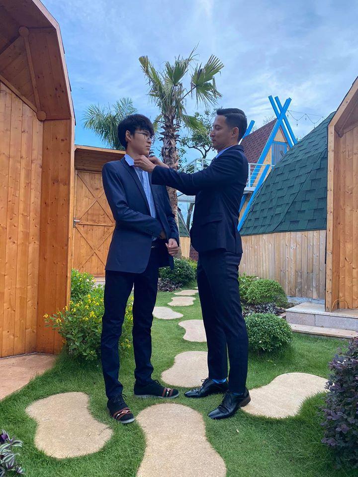 Con trai Huy Khánh trổ mã ngỡ ngàng, cao ngang ngửa bố ở tuổi 14-1