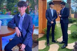 Con trai Huy Khánh trổ mã ngỡ ngàng, cao ngang ngửa bố ở tuổi 14