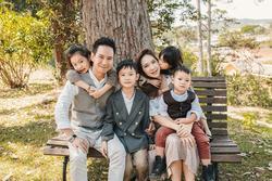 Vợ Lý Hải bị nói 'máy đẻ' nhưng nhìn gia đình 6 người đẹp vậy thật không uổng công