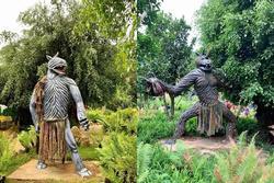 Bị chỉ trích dữ dội, các bức tượng ghê rợn tại khu du lịch Quỷ Núi đã được mặc 'quần áo'