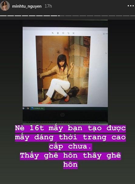 Minh Tú khoe ảnh thời trẻ trâu, tự nhận mình là TOP GỒNG-6