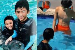 Con trai cả Trương Bá Chi điển trai, body 6 múi khi mới 13 tuổi
