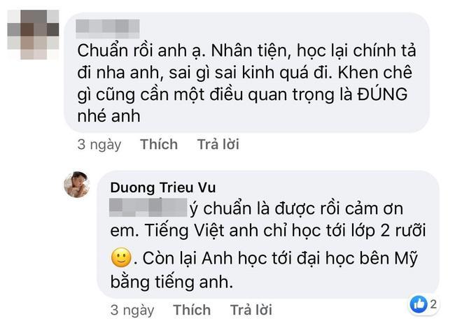 Bị bắt bẻ lỗi chính tả, Dương Triệu Vũ phản bác: Tiếng Việt anh chỉ học tới lớp 2-1