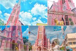 Giới trẻ khoe ảnh check-in nhà thờ màu hồng có '1-0-2' ở Sài Gòn