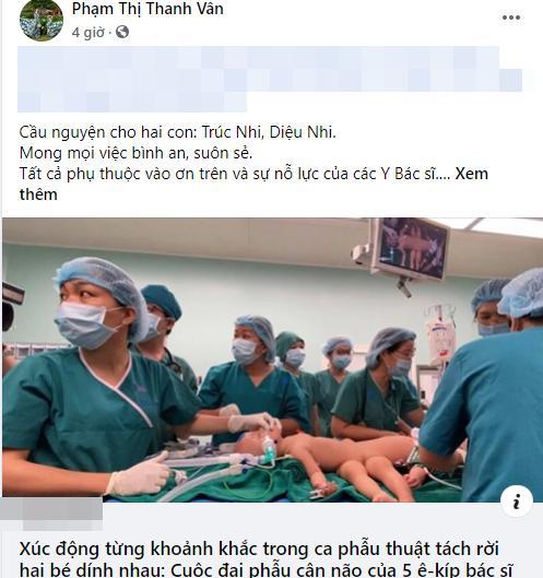 Sao Việt nín thở - vỡ òa khi 2 bé gái song sinh thực hiện ca mổ tách thành công-3