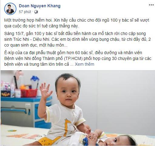 Sao Việt nín thở - vỡ òa khi 2 bé gái song sinh thực hiện ca mổ tách thành công-13
