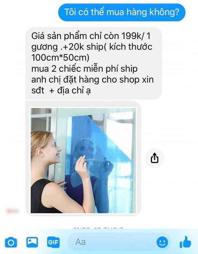 Mua hàng qua mạng được quảng cáo như rót mật, cô gái háo hức mang chiếc gương dán tường về nhà và kết quả-1