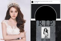 Jolie Nguyễn đổi avatar đen, tự 'R.I.P' chính mình, có ý định tự tử