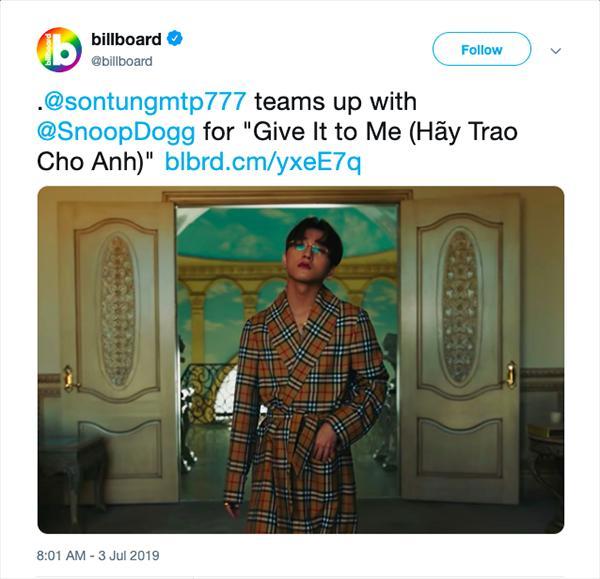 Sơn Tùng MTP trở thành nghệ sĩ Việt Nam đầu tiên ghi tên mình vào Billboard Social 50-2