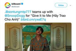 Sơn Tùng MTP trở thành nghệ sĩ Việt Nam đầu tiên ghi tên mình vào Billboard Social 50