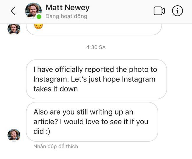 Vũ Khắc Tiệp âm thầm tag tên nhiếp ảnh vào Instagram vẫn bị chính chủ nhẫn tâm report-3