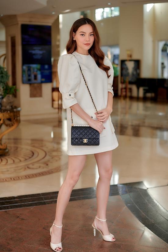 Hồ Ngọc Hà đi giày cao gót, diện váy ngắn dự sự kiện nhưng vẫn khéo che bụng bầu-3