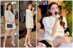 Hồ Ngọc Hà đi giày cao gót, diện váy ngắn dự sự kiện nhưng vẫn khéo che bụng bầu