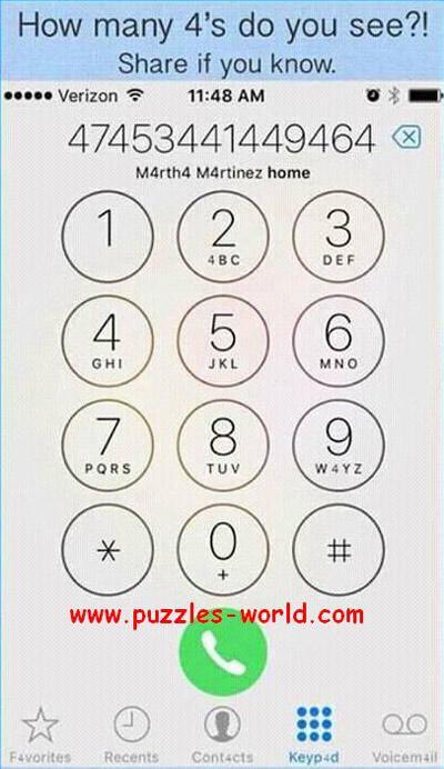 Trong hình này có bao nhiêu số 4, đố bạn tìm được?-1