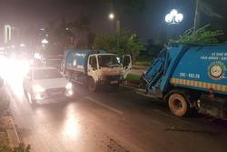 Tháo chốt chặn ở bãi rác Nam Sơn, xe chở rác nối đuôi tấp nập đổ về
