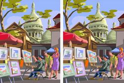 Có 10 điểm khác biệt trong 2 bức tranh này, nếu bạn tìm được thì bạn đúng là cao thủ