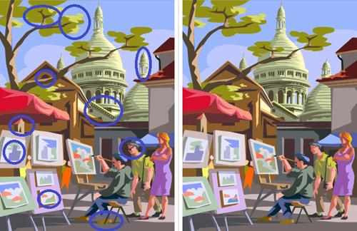 Có 10 điểm khác biệt trong 2 bức tranh này, nếu bạn tìm được thì bạn đúng là cao thủ-2