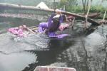 Những pha ngã thuyền để đời khi chị em mặc áo dài 'vượt sông' sống ảo cùng hoa
