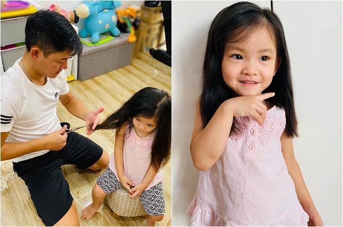 Sao Việt cắt tóc cho con: Thu Minh thất bại, Kỳ Hân xứng danh cây kéo vàng-9
