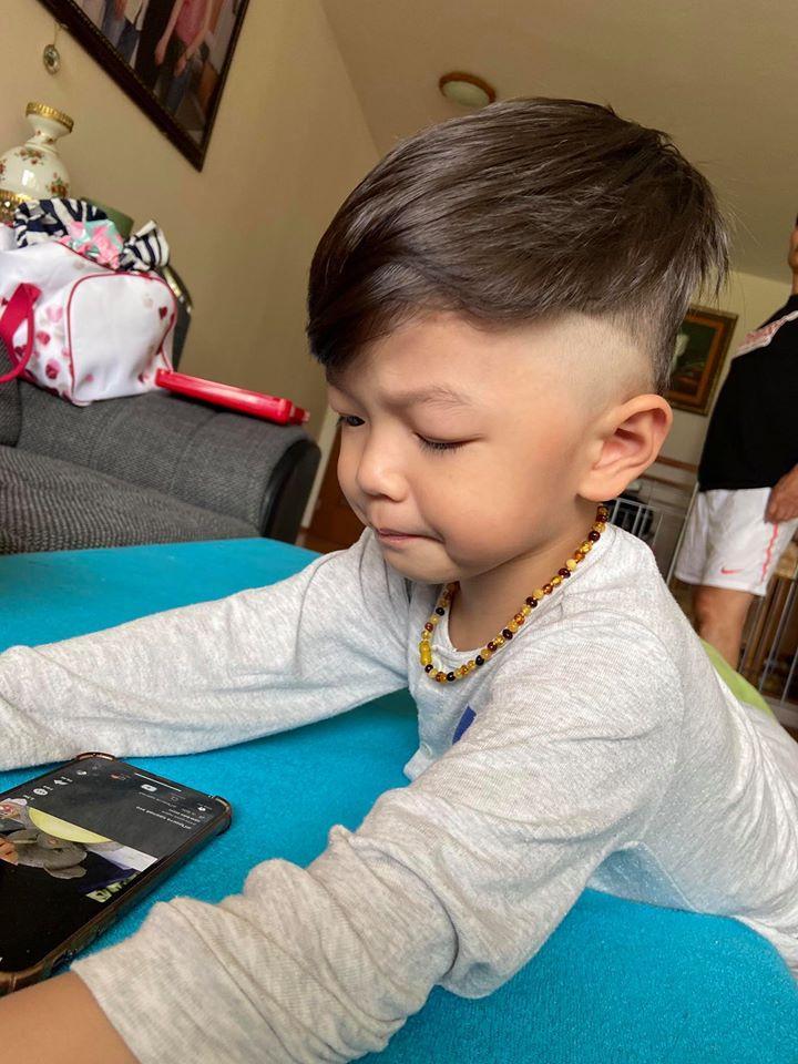 Sao Việt cắt tóc cho con: Thu Minh thất bại, Kỳ Hân xứng danh cây kéo vàng-2
