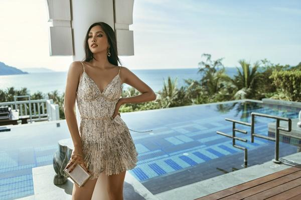 Hoa hậu Tiểu Vy những ngày cuối nhiệm kỳ: Làn da nâu sáng rực dưới ánh mặt trời-8