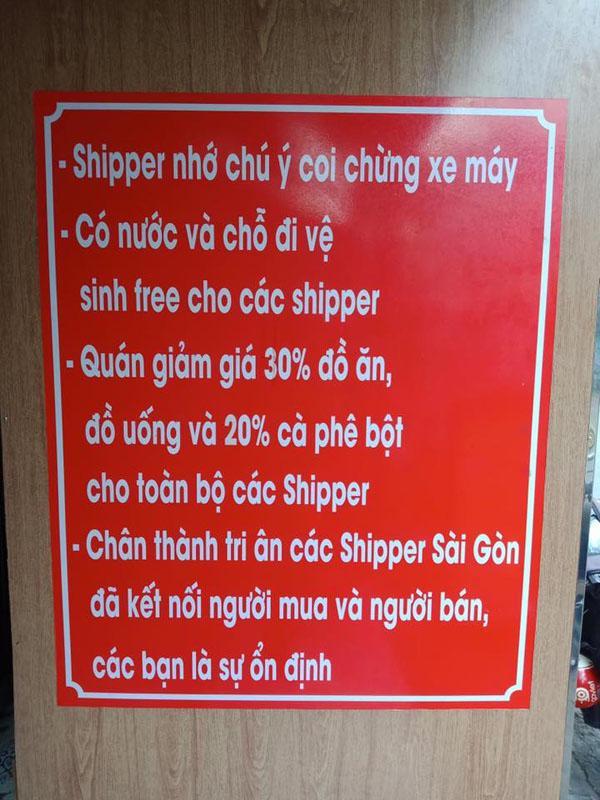 Quán ăn lịch sự nhất mạng xã hội: Quan tâm shipper như người một nhà khiến dân mạng thích thú-2