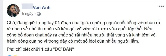 Vợ diễn viên Thành Được khẳng định đang giữ đoạn chat gọi gái của nhiều sao nam Việt-2