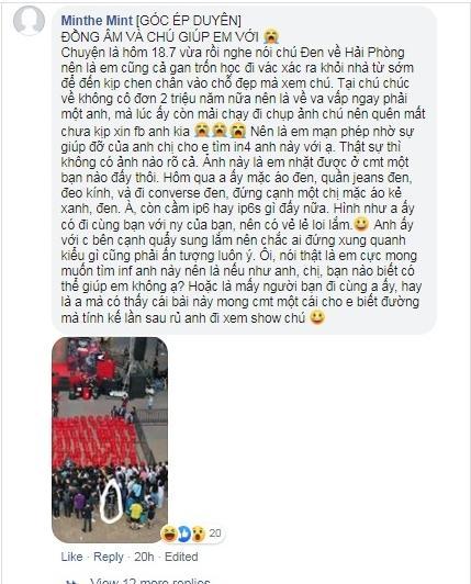 Dễ thương như Đen Vâu: Chấm chấm Facebook giúp fan tìm crush bị lạc trôi-2