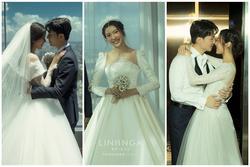 Cận cảnh 5 bộ váy cưới đẹp đến từng centimet của á hậu Thúy Vân