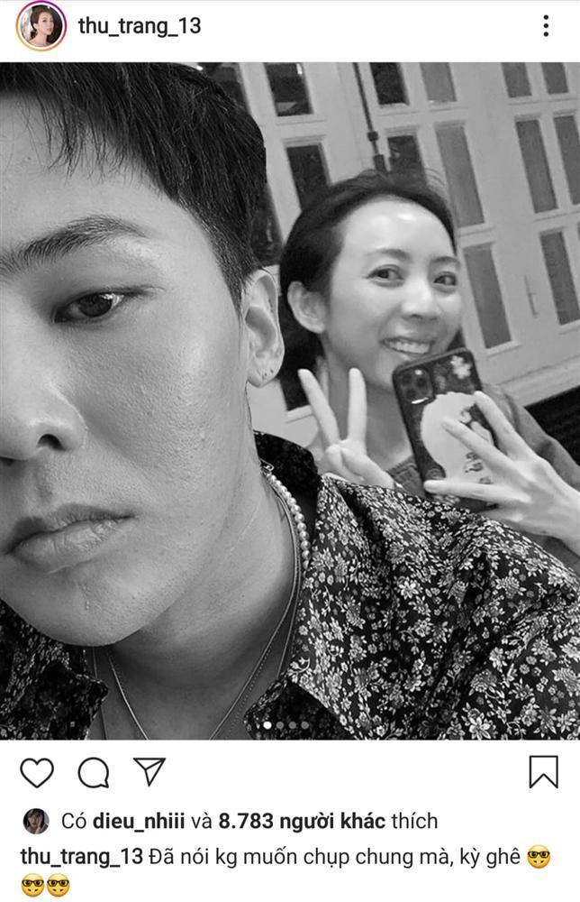 Thu Trang khiến dân mạng hết hồn với hình ảnh tình bể bình bên G-Dragon-1