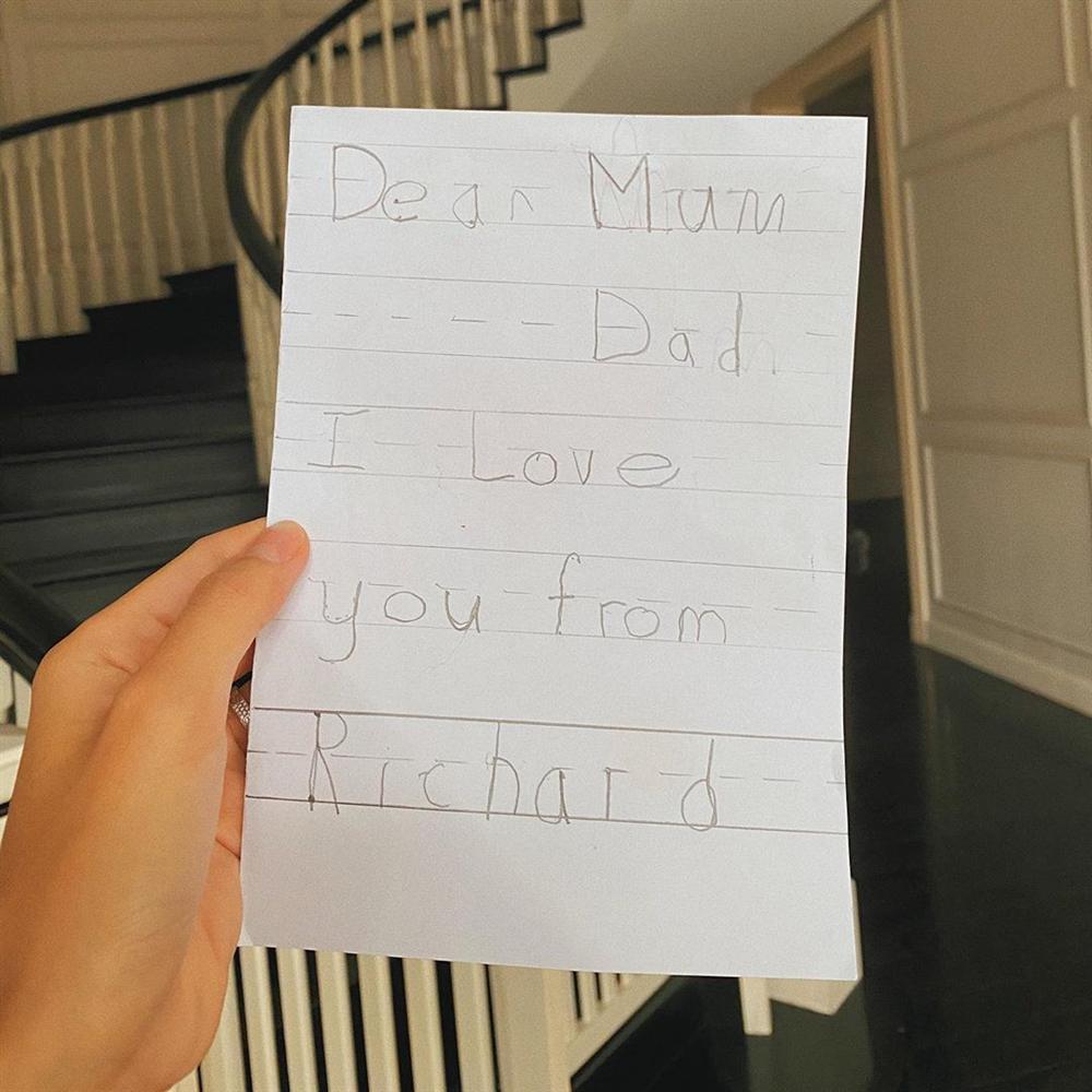 Quý tử 5 tuổi viết thư tay gửi Tăng Thanh Hà