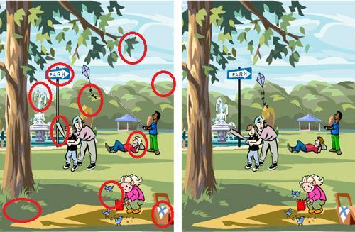 Nếu bạn tìm được 10 điểm khác nhau trong 2 bức hình này, bạn sẽ là thiên tài-2